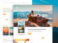 Aavio Website Mockup