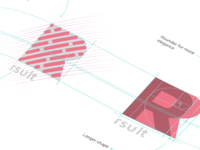 Rsult - concept logo construction