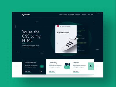 Header Mockup for Developers Portal