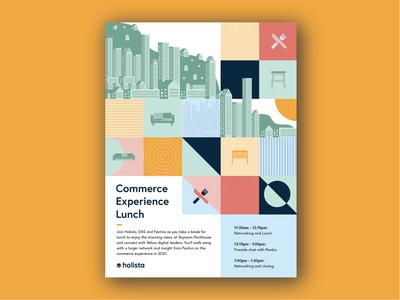 Corporate invitation design concept
