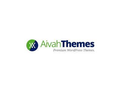 AivahThemes Logo logo themes creative navy green