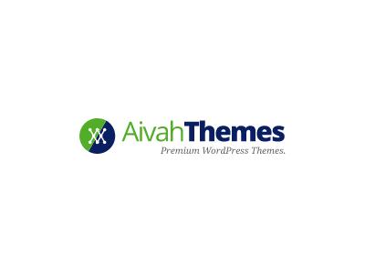 AivahThemes Logo logo themes creative navy green