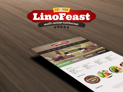 Linofeast Updated Restaurant logo restaurant theme
