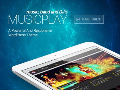 MusicPlay WordPress Theme music player band dj events blog minimal flat