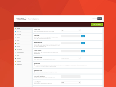 Theme Options Panel UI ui options panel options framework wordpress admin