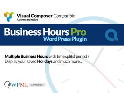 Business Hours Pro WordPress Plugin