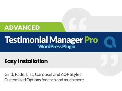 Advanced Testimonials Manager Pro WordPress Plugin