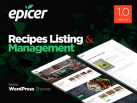 Epicer Recipes Listing WordPress Theme Promo