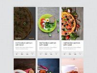 Dribbble recipe lists full compressed