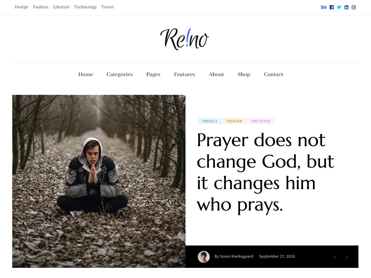 Reino - Personal Magazine Home header slider homepage magazine