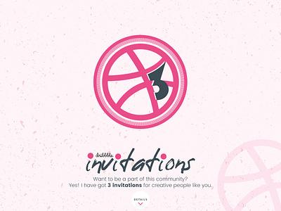 3 Dribbble Invitation player giveaway invite invitation draft debut