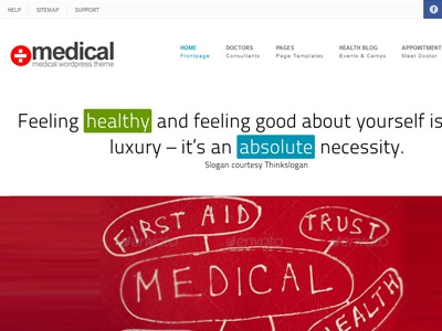 Medical Wordpress Theme medical wordpress health hospital doctor theme premium clean minimal business