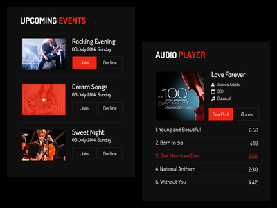 Events and Audio UI