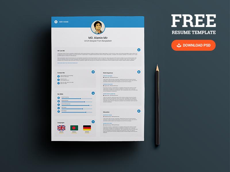 professional resume checker free resume by al amin mir dribbble