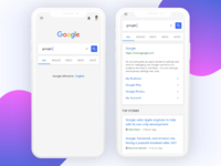 Retouched Google Mobile UI
