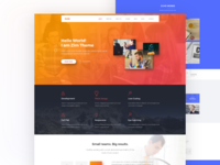 Zim Theme One Page Landing Page