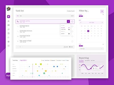 CMS Tash Dashboard web app ui design