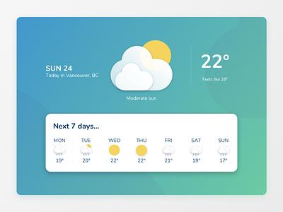 React Weather App icon design ui illustration app