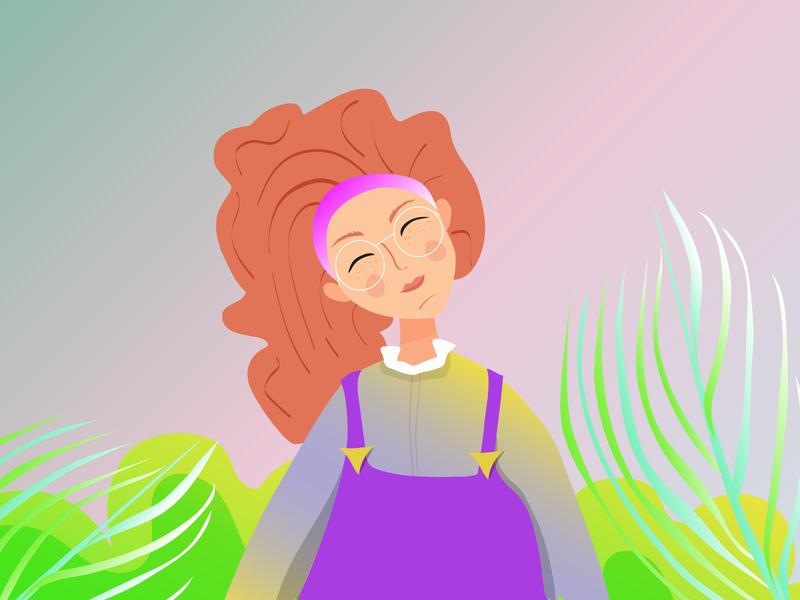 Girl portrait dtys drawthisinyourstyle girl 2d vector illustration adobe illustrator