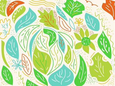 Spring doodle spring vector 2d illustration doodle adobe illustrator