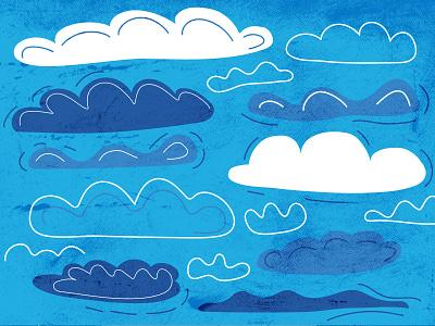 Clouds cloud illustration 2d vector adobe illustrator