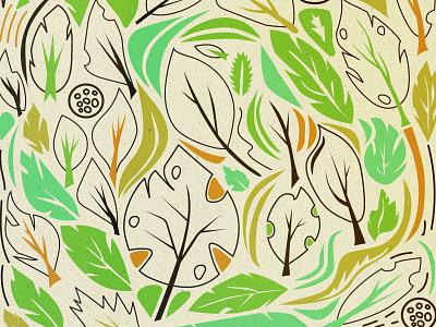 Pattern monstera pattern vector illustration 2d adobe illustrator