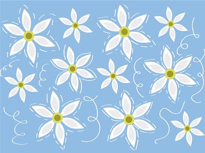 Pattern flowers flowers 2d illustration vector adobe illustrator