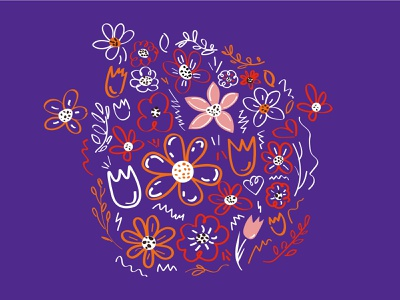 Flowers flowers 2d illustration vector adobe illustrator