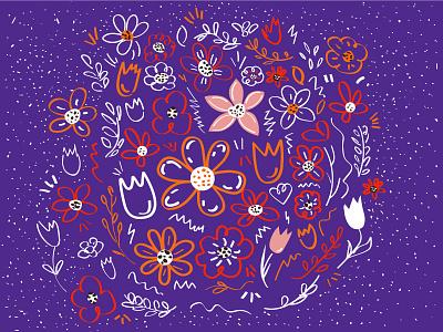Flowers _2 flowers pattern vector illustration adobe illustrator