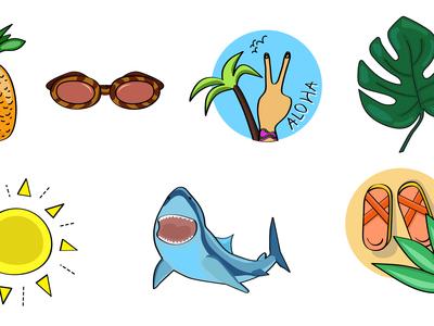Hey Summer Stickers