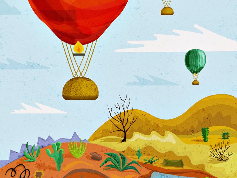 Arizona desert arizona vector 2d adobe illustrator