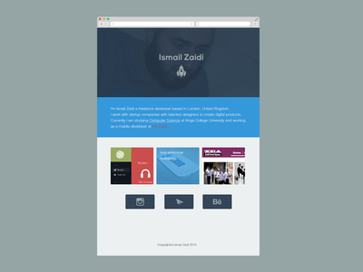 Personal Website for Ismail Zaidi