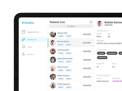 MedRec - Patient Medical Records ipad medical patient health app
