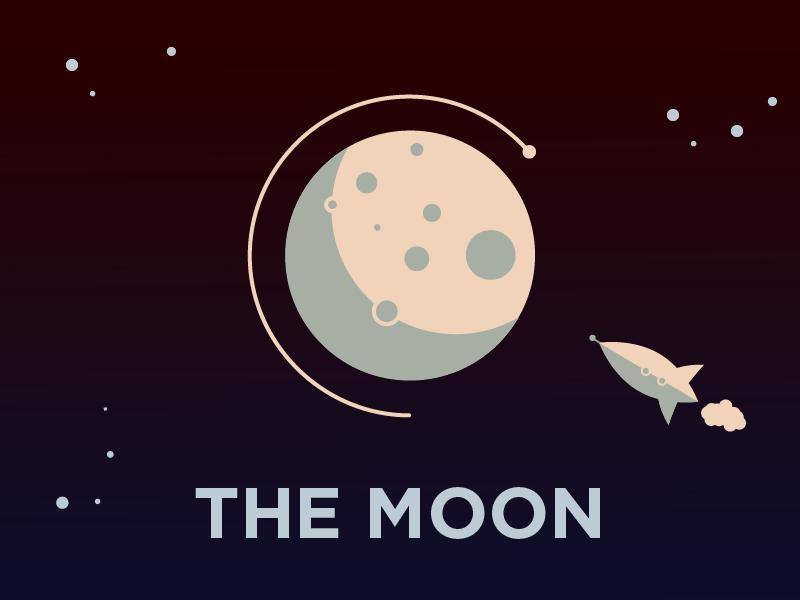 Moon Illustration By Jahit Janberk