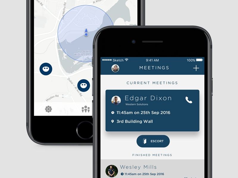 Wizo Connect App map connect dubai robot app mobile design ux