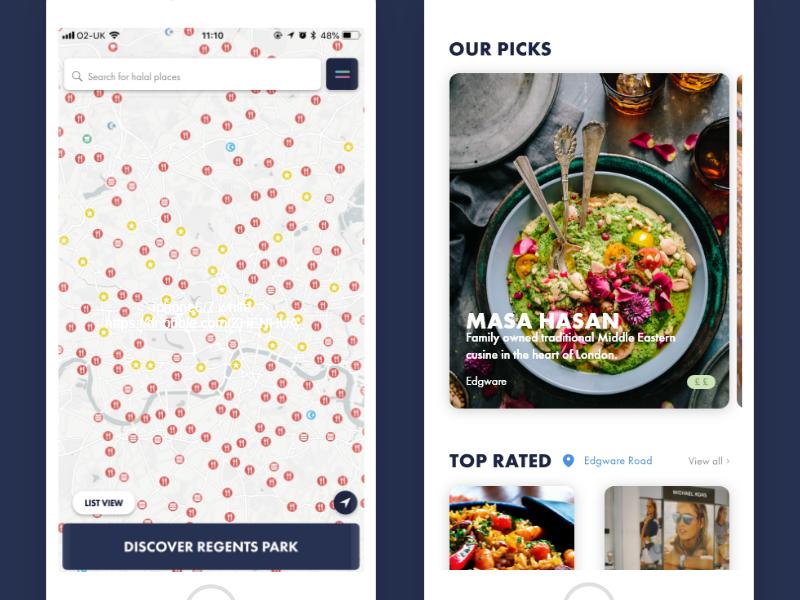 Halal Place for iOS map digital product worldwide london islam muslim halal app