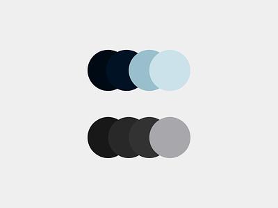 Colour Exploration for Dark UI Desktop Application grey blue color colour ui dark ui