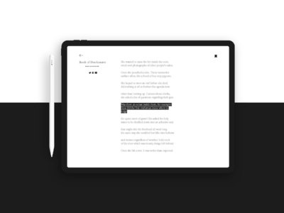 Interface for Poetry Reading App