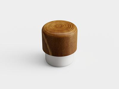 Mushroom Stool 🍄 fusion360 design wood stool 3d