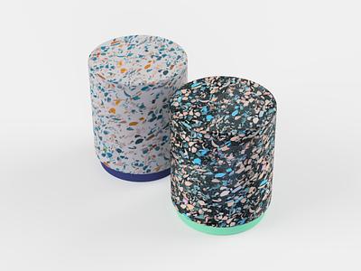 Terrazzo Stool Render 1 material stool 3d