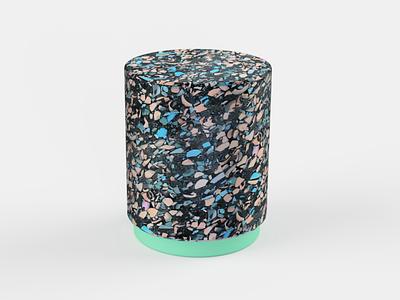 Terrazzo Stool Render 3 stool fusion360 product 3d design