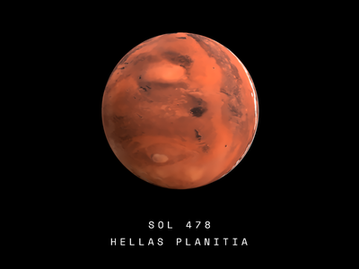 Hellas Planitia fusion360 render science mars space sphere 3d