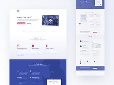 F-LEX Homepage landing page web homepage design clean pink blue ux ui website