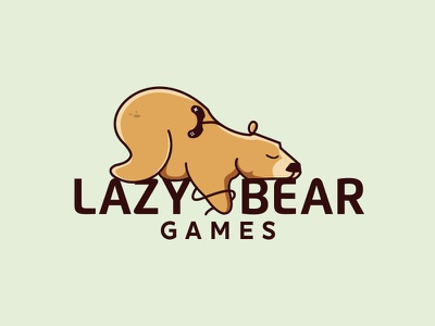 Lazy Bear Games games lazy animal bear illustration logo mascot character