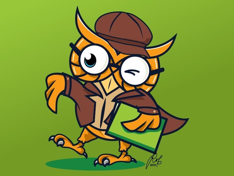 Owl 01 vector design creative clean branding art professional brand animal mascot character logo illustration