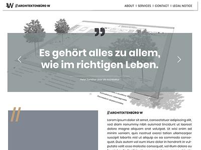 Desktop-Website Architektur web website design