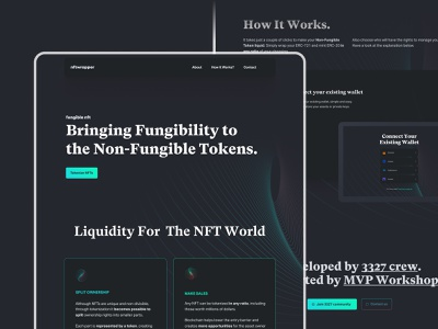 NFT Wrapper Landing Page non-fungible tokens nft cryptocurrency landing page design