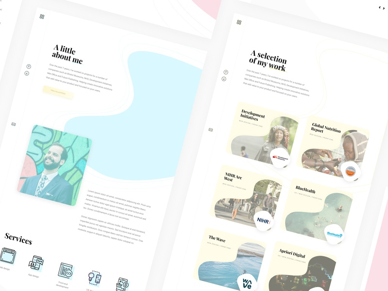 Portfolio site concept web website minimal pastel inspiration web design typography clean design aesthetic portfolio
