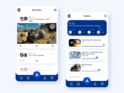 PlayStation app concept minimal android playstation product design clean uidesign app aesthetic design inspiration ui