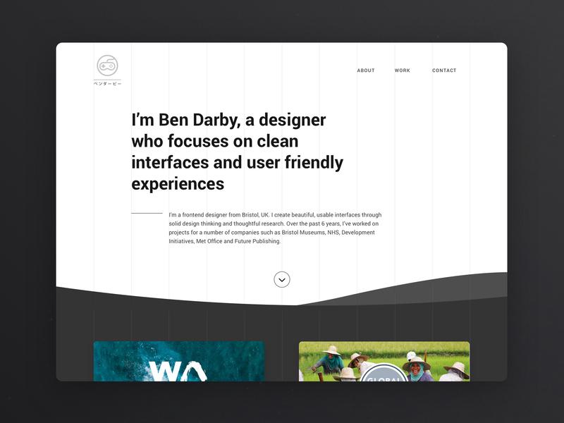 Portfolio site idea monochrome aesthetic clean minimal inspiration portfolio web web design design